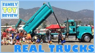 REAL TRUCKS For Kids - Construction, Fire Truck, Street Sweeper, Backhoe, Garbage Truck, Skidsteer