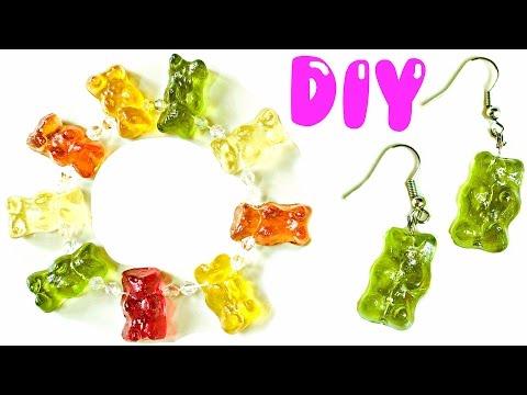 DIY GUMMY BEAR JEWELRY   Bracelet, Earrings, Charm & Ring