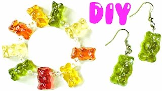 DIY GUMMY BEAR JEWELRY | Bracelet, Earrings, Charm & Ring
