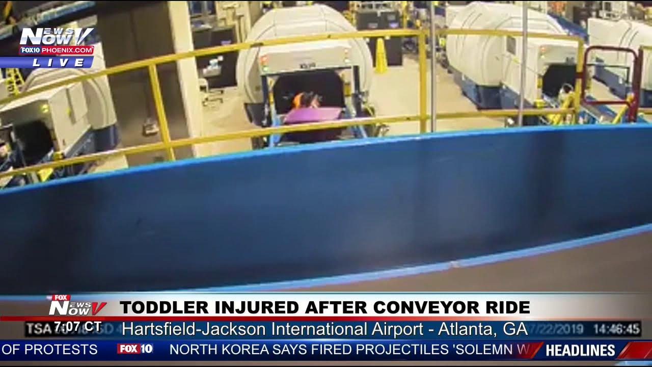 TSA SURPRISE: 2-year-old rides baggage belt at airport