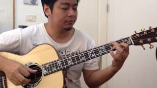 """ How Deep is Your Love "" played by Ake Chaem with #104 Leaf Custom Guitar"