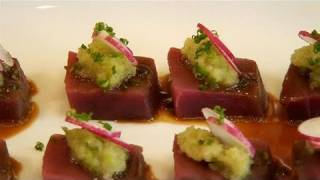 How To Prepare Tuna Sashimi With Apple Puree
