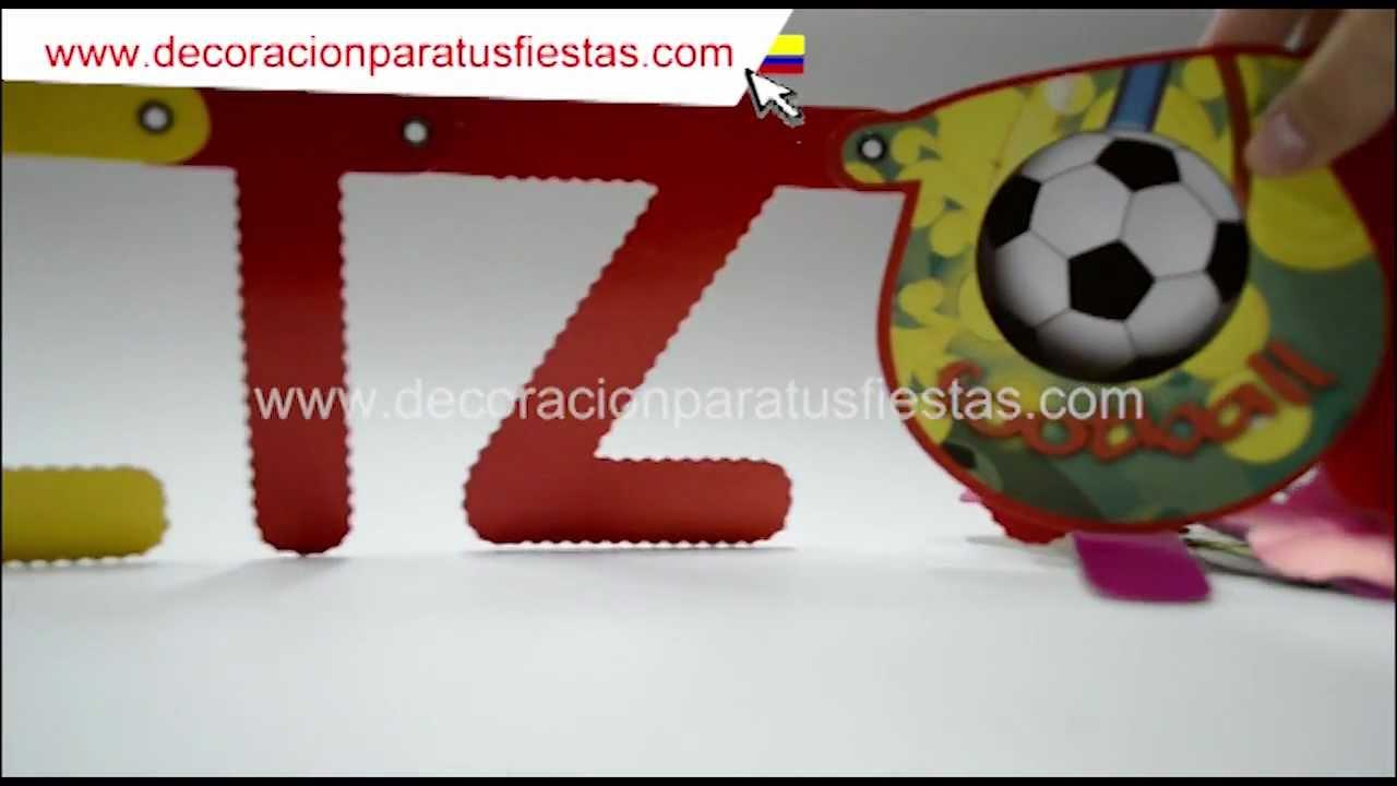 Guirnalda para cumpleaños con tema de Futbol YouTube