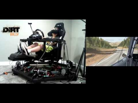 Dirt Rally - 6DOF Motion Racing Simulator with Oculus Rift VR