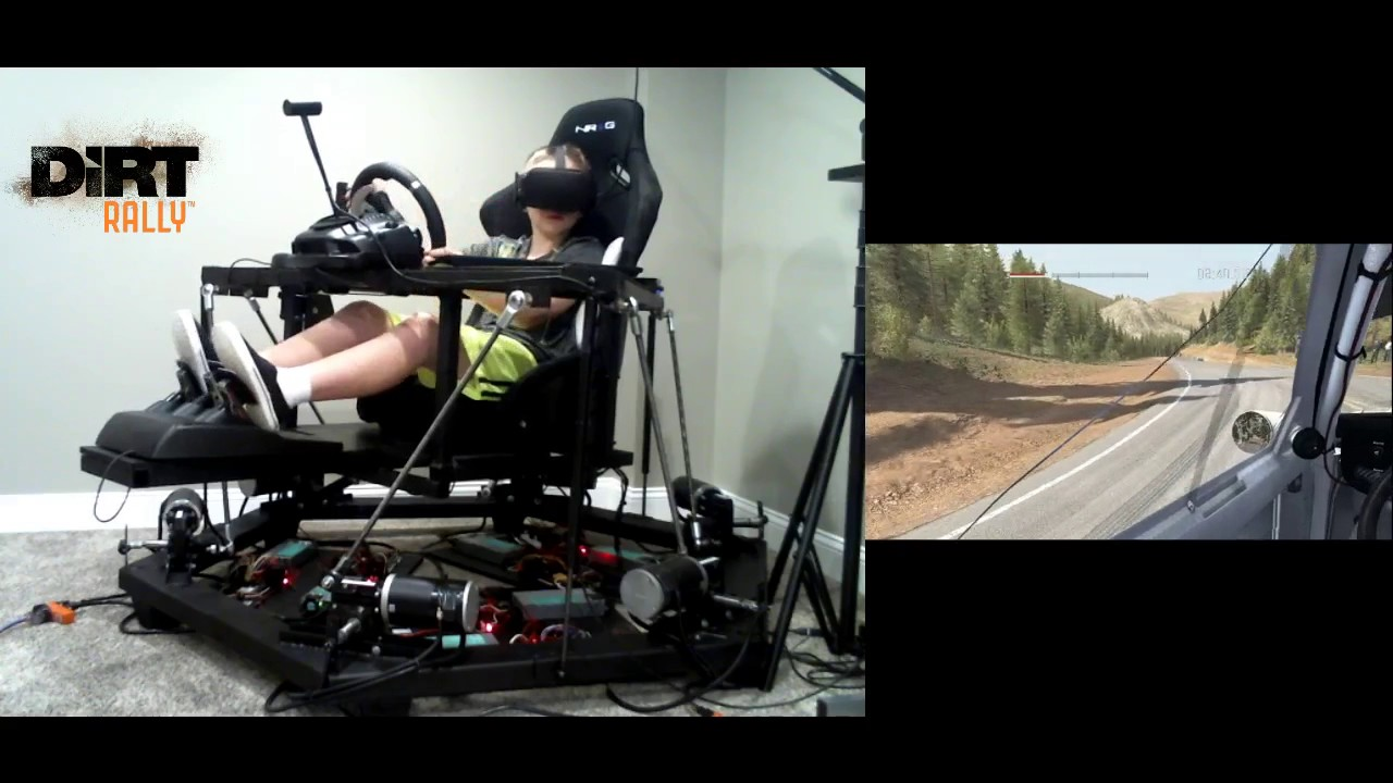 dirt rally 6dof motion racing simulator with oculus rift vr youtube. Black Bedroom Furniture Sets. Home Design Ideas