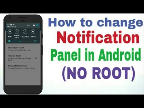 how to change notification menu colour