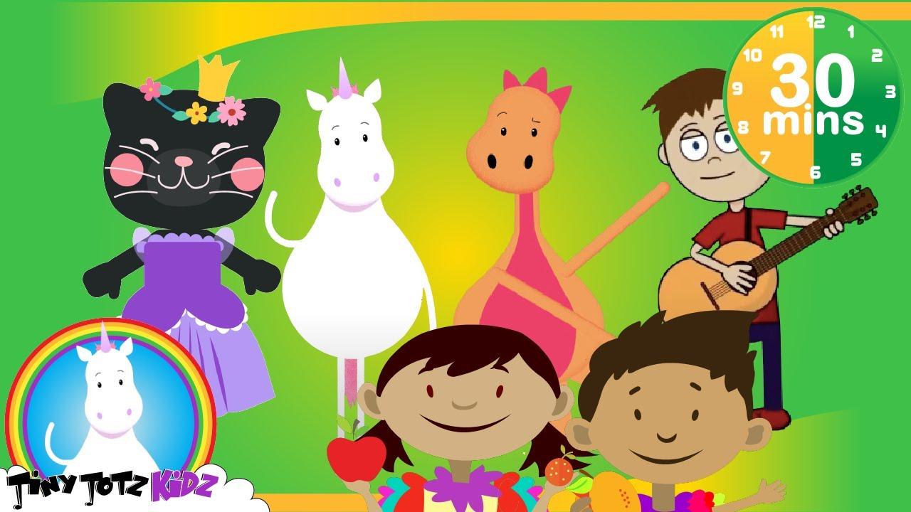 Unicorn and Friends | 30 mins Upbeat Dance Kids | Fun Songs | Dance Songs| Kids Songs | TinyTotzKidz
