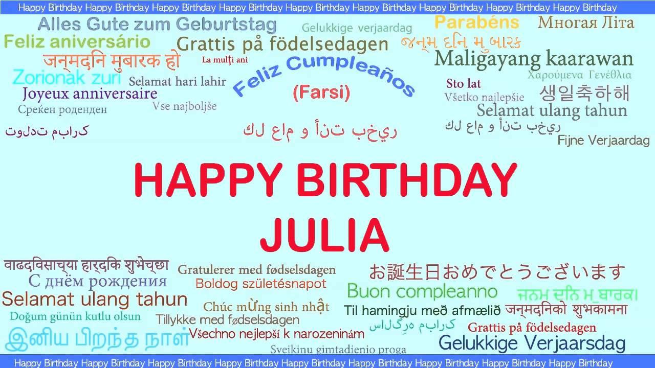 Julia Languages Idiomas Happy Birthday Youtube