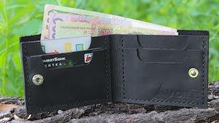 Мужской кожаный бумажник ручной работы VOILE vl-mw4-blk. Купить недорого - видео обзор