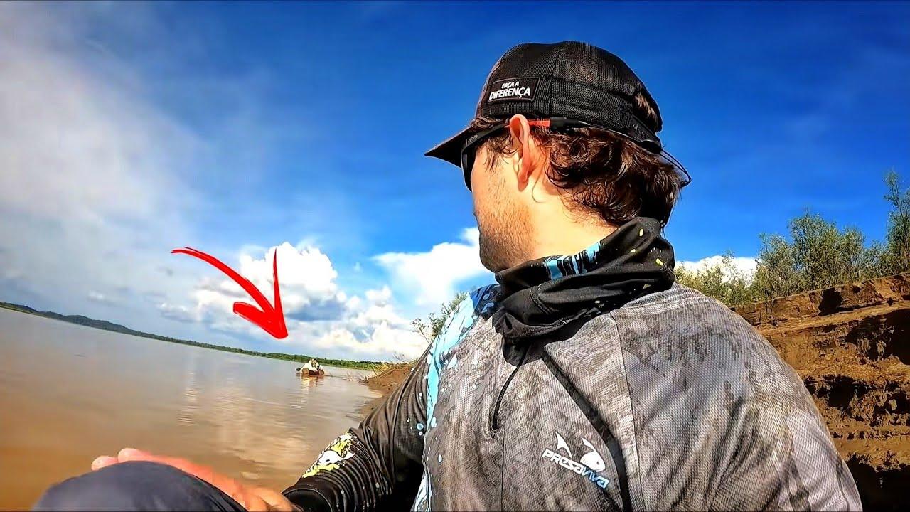 NESSE RIOZINHO ERA PRA SER TRAÍRA, MAS OLHA O QUE APARECEU... Pescaria.