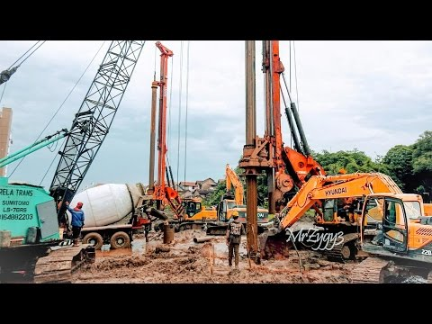 Deep Foundation Work Sany SR150C Rotary Drilling Rig