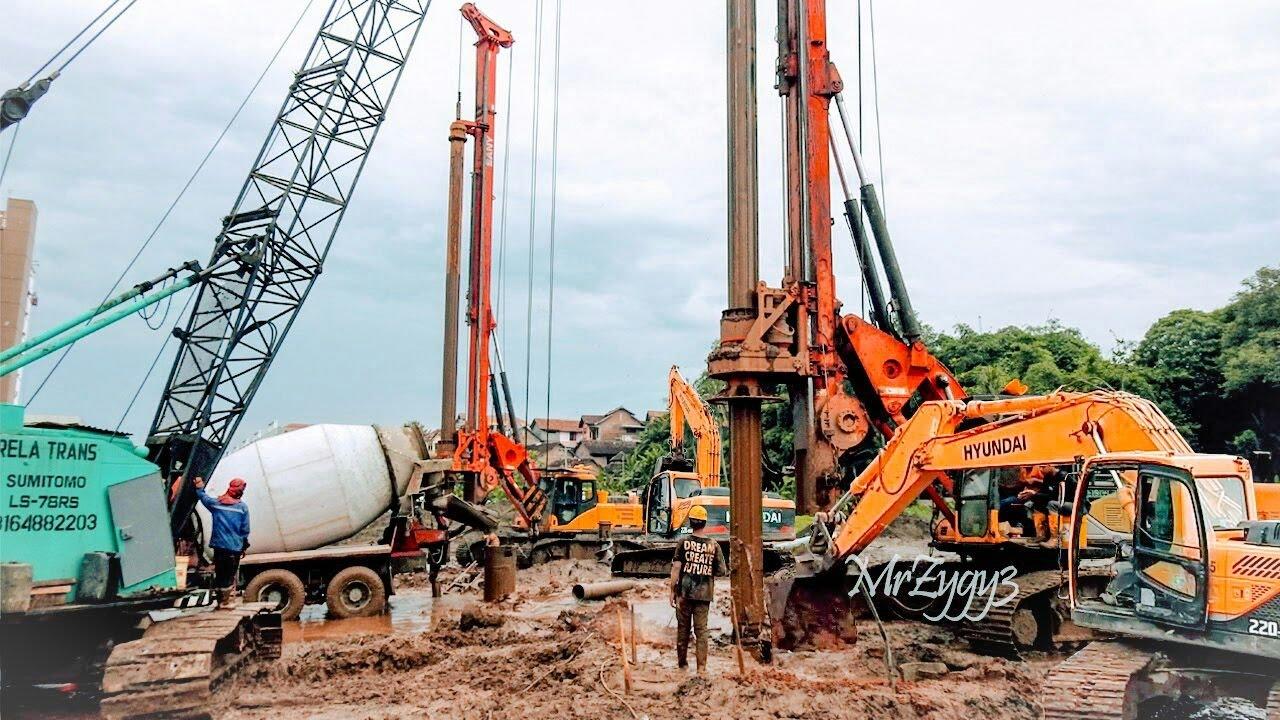 Deep Foundation Work Sany SR150C Rotary Drilling Rig