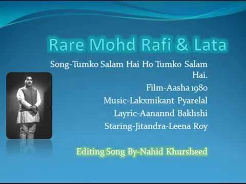 Tumko Salam Hai HoRare SongMohd Rafi & LataFilmAsha 1980