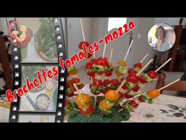 Brochettes De Tomates-Cerises-Mozzarella Au Pesto
