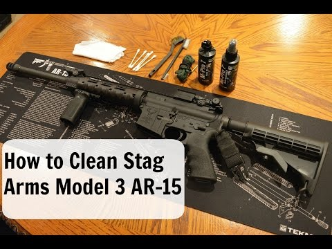 How to Clean and lubricate your Stag Arms Model 3 AR-15