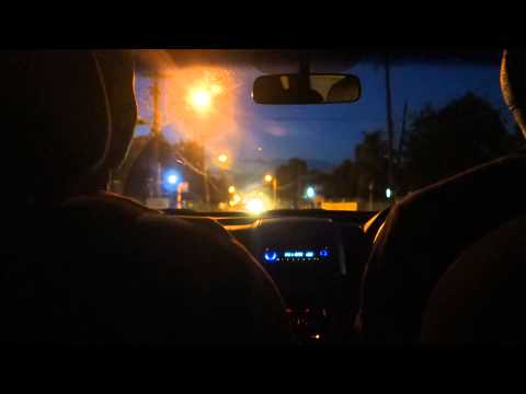 3 am drive to Norman Manley airport from Duncans - Jamaica 2015