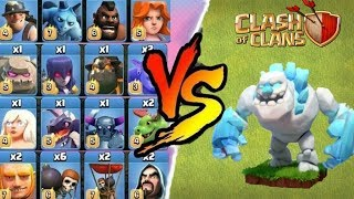 Ice Golem vs All Troops In Clash Of Clans   Who Will Win?