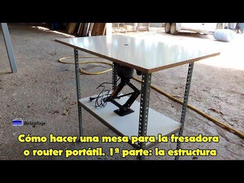 C mo hacer una mesa para la fresadora o router port til for Mesa para fresadora