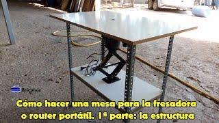 Cómo hacer una mesa para la fresadora o router portátil. 1ª parte: la estructura.