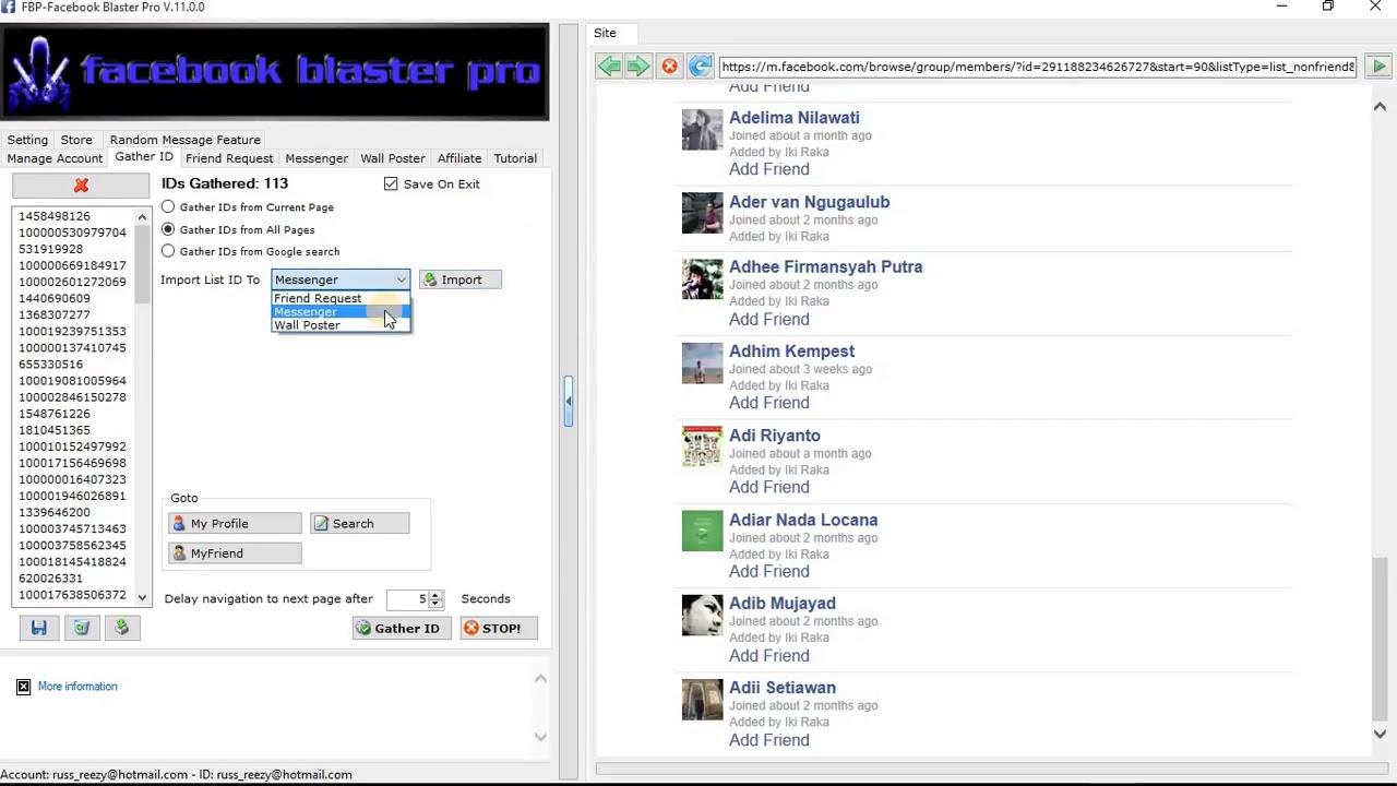 facebook blaster pro v.7.1.3