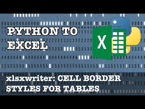 Cell Borders for Your Excel Tables in xlsxwriter for Python - YouTube