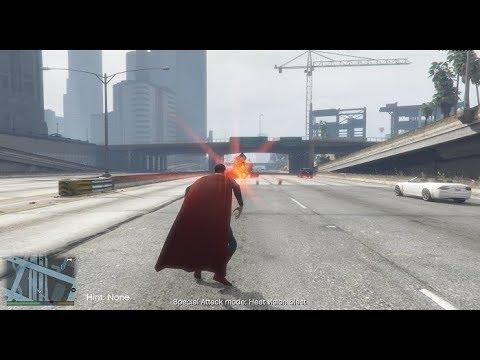 GTA 5 SUPERMAN MOD!! (ALL POWERS AND ABILITIES)
