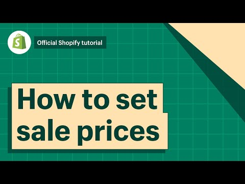 How To Add Sales Prices To Products And Variants || Shopify Help Center