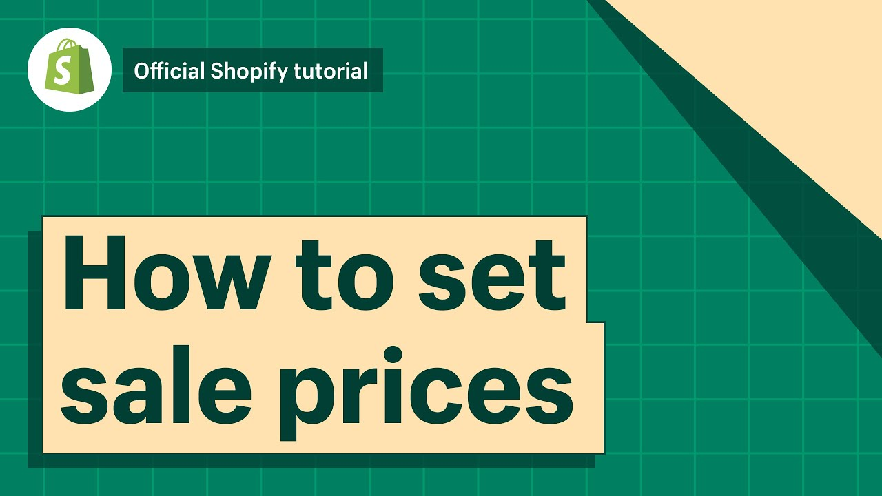 How To Set Sales Prices To Products and Variants || Shopify Help Center