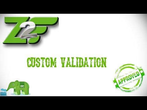 Custom Validation com Zend Framework 2