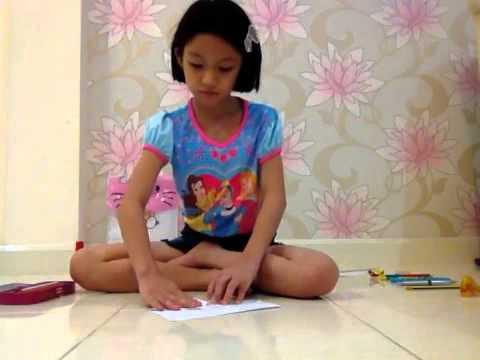 จีจี้สอนพับซองจดหมาย