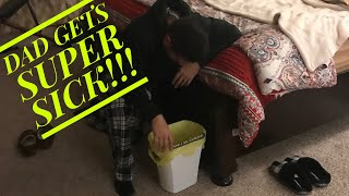SUPER SICK DAD- FOOD POISONING!?? / KIDS DO CHORES ON LAUNDRY & TRASH DAY!! / FAVORITE PROTEIN SHAKE