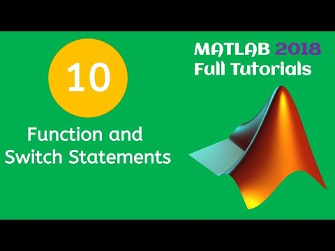 MATLAB Tutorial For Beginners 10 - Function And Switch Statements In MATLAB