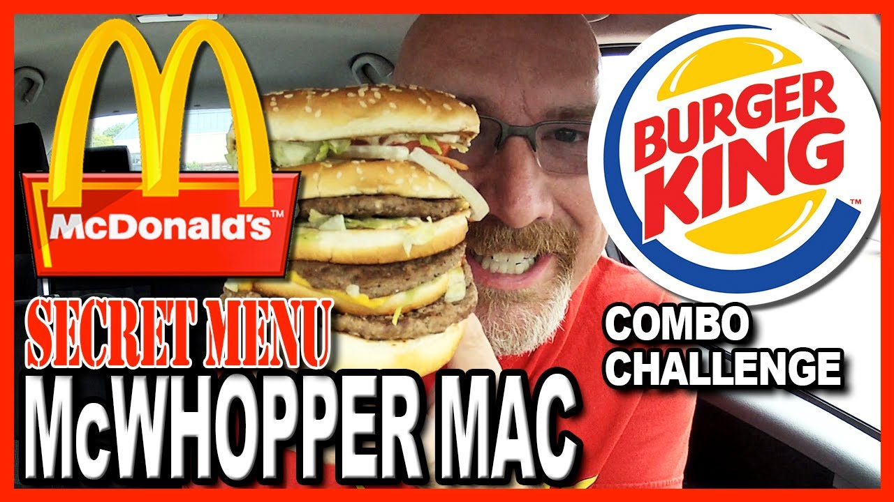 McWhopper Mac Combo Meal Review and Challenge - FreakEating & Spraymucus
