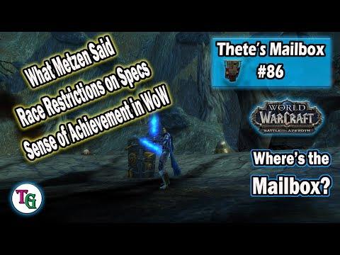 Thete's Mailbox #86 Metzen's Tweets and WoW Achievements