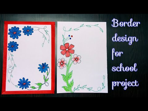 Diy File Decorations How To Decorate Project File Border Design For