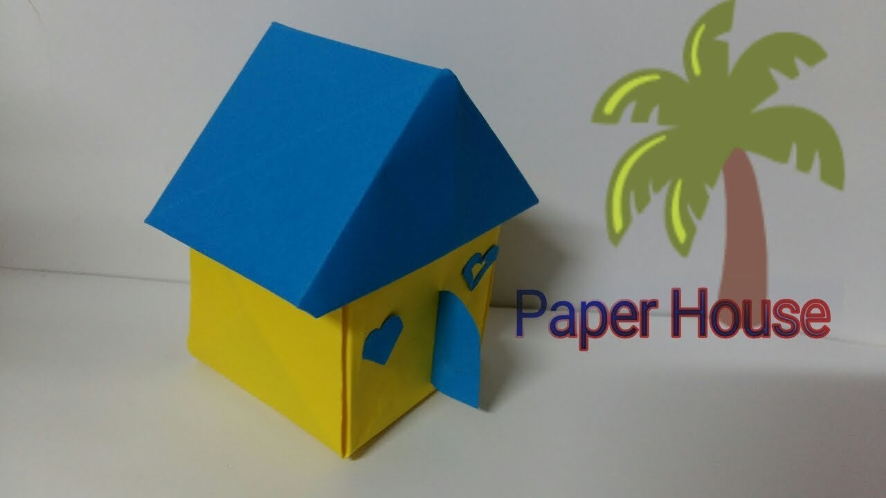 How to make a 3D origami house: page 1 | 720x1280