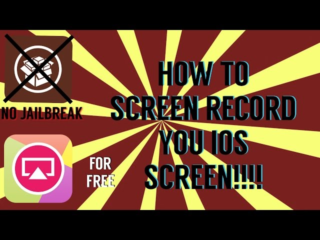 How to screen record your iOS screen! (No jailbreak)