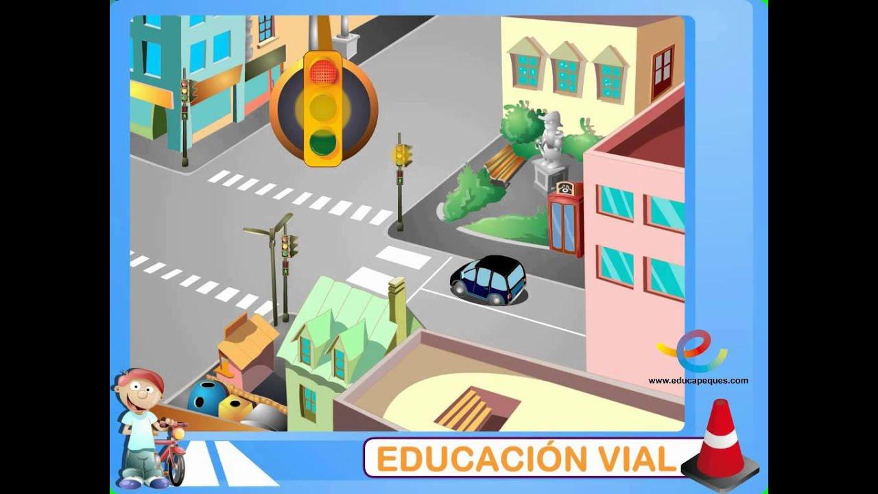 Los semforos y pasos de cebra en Educacin Vial  YouTube