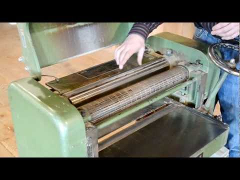Dad's 20-inch thickness planer
