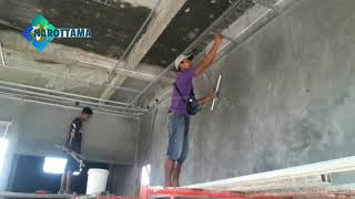 Pasang rangka hollow drop ceiling part 1    Plafon Gypsum