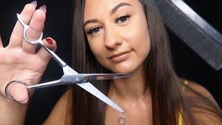 [ASMR] Relaxing Hair Cut Role Play ✂️ Washing, Brushing & Scalp Massage