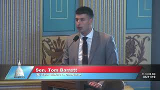 Sen. Barrett speaks in support of Senate Bill 150