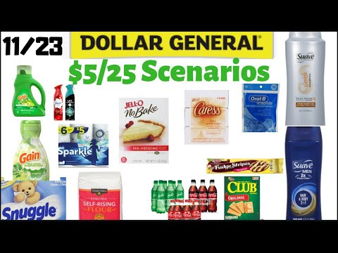 Dollar General 5 Off 25 Scenarios All Digital And Food Deal