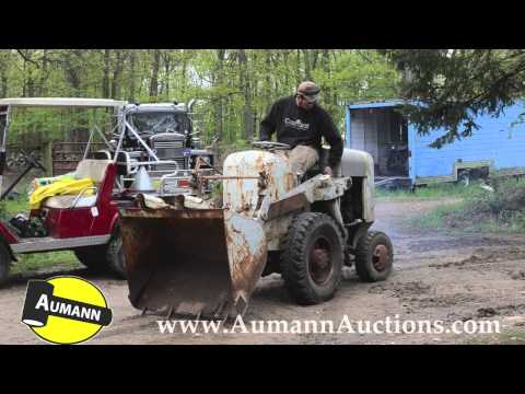 Hough Small Dump Utility Tractor - Ken Avery Antique Tractor Collection Auction