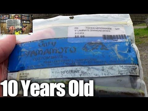 Bass Fishing With 10 Year Old Yamamoto Craws & New Texas Rig Winner