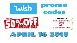Wish App Promo Codes For New & Existing Customers 💵 50% OFF 🌟 Free Shipping 🚚 04-16-2018 ✅