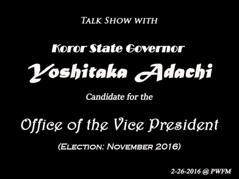 Vice President Candidate - Governor Adachi (2016)