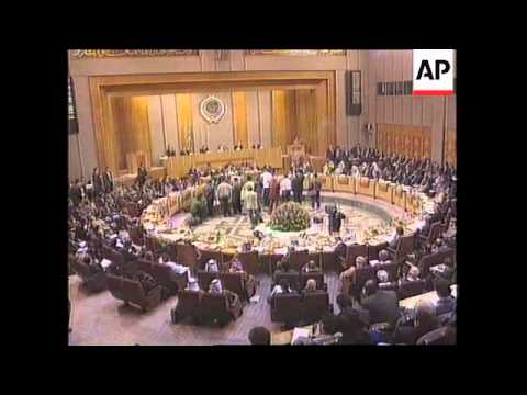 Egypt - Arafat addresses Arab League