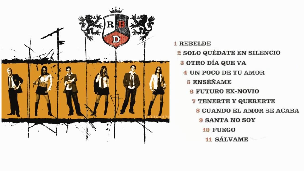 RBD Rebelde Cd Completo - YouTube