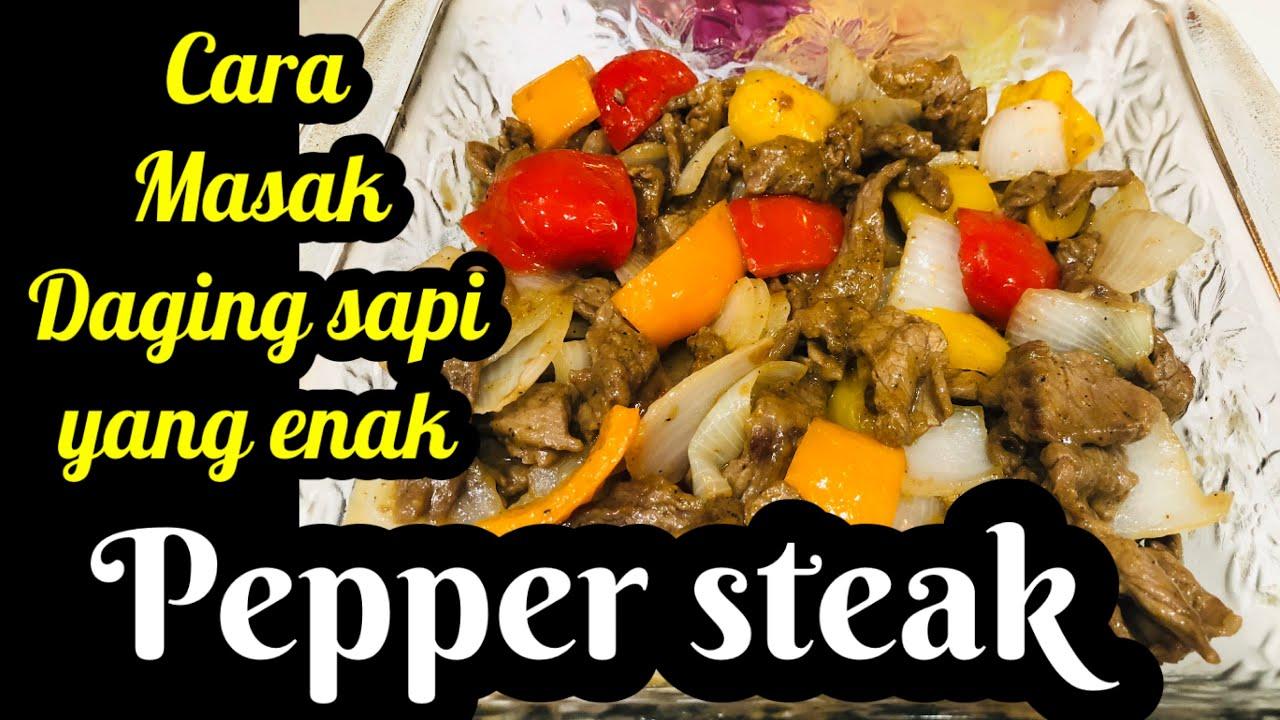 pepper steak daging lada hitam enak  mudah mantab banget sevgi ceto youtube Resepi Daging Stew Enak dan Mudah